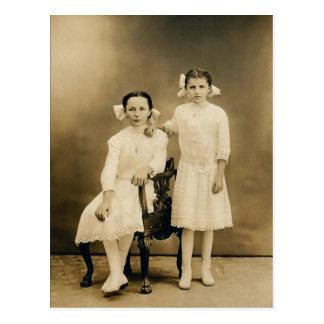 Severa & Catherine LAHR, circa 1910 Postcard