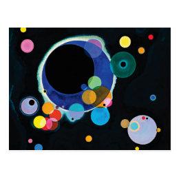 Several Circles by Wassily Kandinsky Postcard