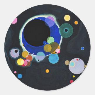 Several Circles Classic Round Sticker