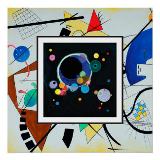 Several Circles in Throughgoing Line by Kandinsky Poster
