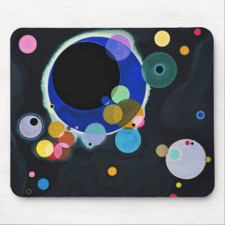 Several Circles Mouse Pad