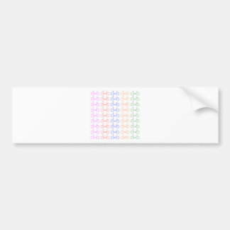 Several colorful bycicle bumper sticker