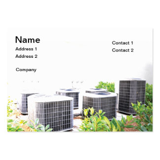 Several outdoor air conditioner units large business card