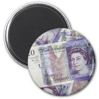Several Pound Bills New British0 Pounds Money Magnet