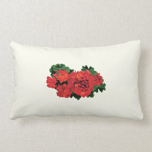 Several Red Geraniums Pillow