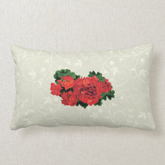 Several Red Geraniums Pillows