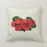 Several Red Geraniums Throw Pillows