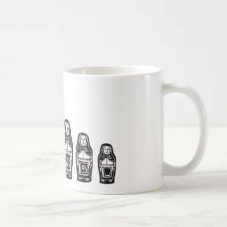Several Russian Nested Dolls Mugs