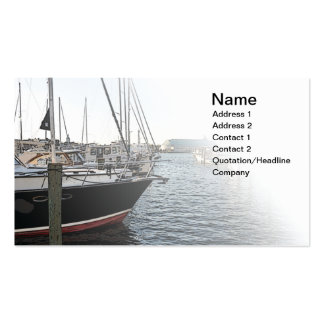 several sail boats docked Double-Sided standard business cards (Pack of 100)
