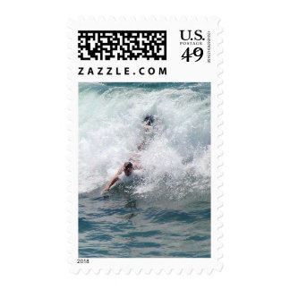 Several Surfers Postage Stamp