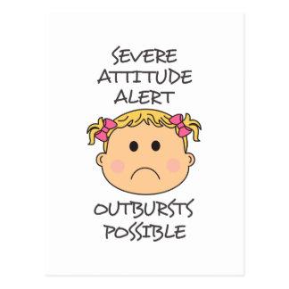 Severe Attitude Postcard
