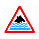 Severe Flood Warning Postcard