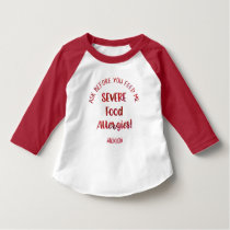 Severe Food Allergies Kids Personalized Don't Feed T-Shirt