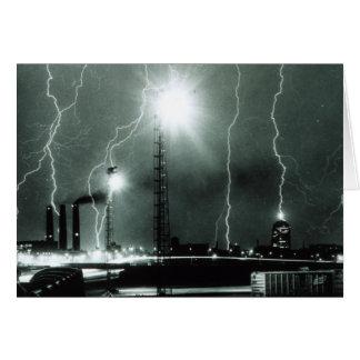Severe Lightning in Boston Card