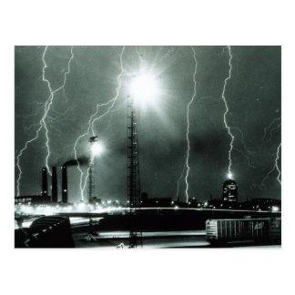 Severe Lightning in Boston Postcard