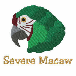 Severe Macaw Embroidered Shirt (Polo Shirt)