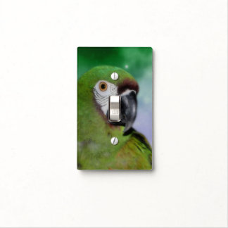 Severe Macaw Parrot Face Animal Light Switch Cover
