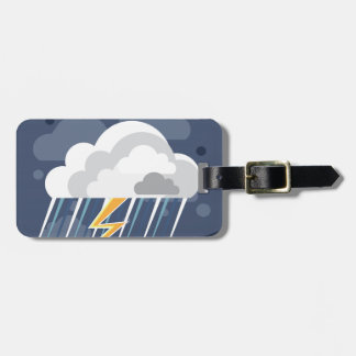 Severe Weather Storm Icon Bag Tag