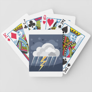 Severe Weather Storm Icon Bicycle Playing Cards