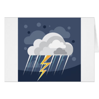 Severe Weather Storm Icon Card