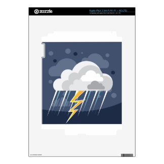 Severe Weather Storm Icon Decal For iPad 3