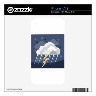 Severe Weather Storm Icon Decal For The iPhone 4S