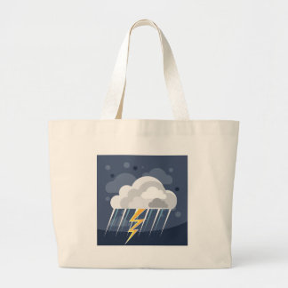Severe Weather Storm Icon Large Tote Bag