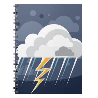 Severe Weather Storm Icon Notebook