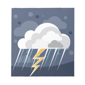 Severe Weather Storm Icon Notepad