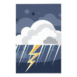 Severe Weather Storm Icon Stationery