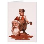 Severed Santa Head Holiday Card