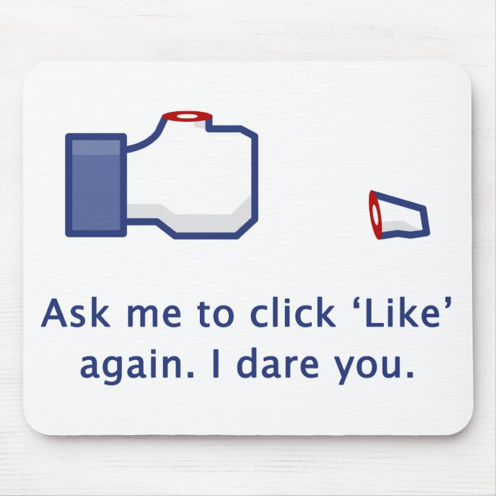 Severed Thumb - Ask Me to Click 'Like' Mousepad