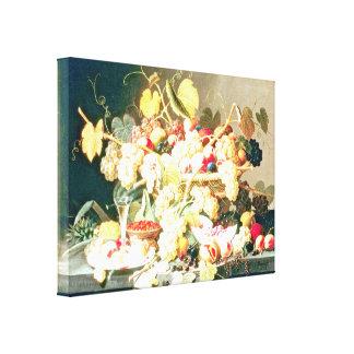 Severin Roesen - todavía vida con la fruta Impresiones En Lona