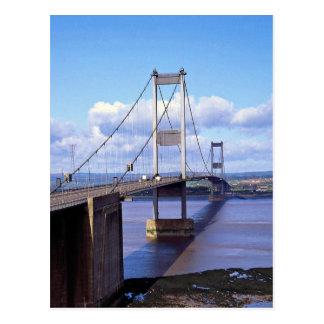 Severn Bridge, Avon, England Postcard