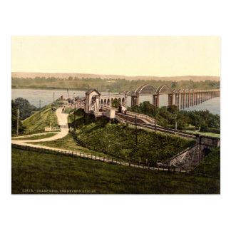 Severn Bridge, Sharpness, Gloucestershire, England Postcard