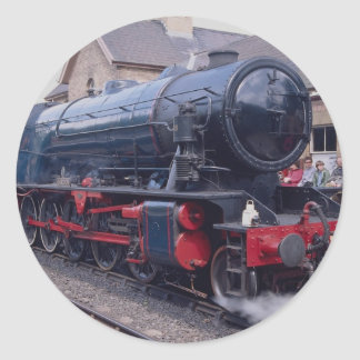 Severn Valley Railway, Locos at Highley Station, W Classic Round Sticker