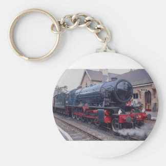 Severn Valley Railway, Locos at Highley Station, W Basic Round Button Keychain