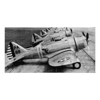 Seversky P-35 Vintage WWII Fighter Planes Card