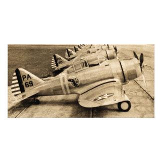 Seversky P-35 Vintage WWII Fighter Planes Card