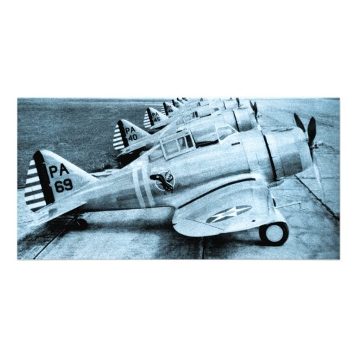 Seversky P-35 Vintage WWII Fighter Planes Personalized Photo Card