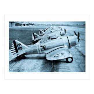 Seversky P-35 Vintage WWII Fighter Planes Postcard