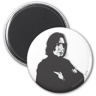 Severus Snape Arms Crossed B-W 2 Inch Round Magnet