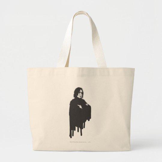Severus Snape Arms Crossed B-W Large Tote Bag