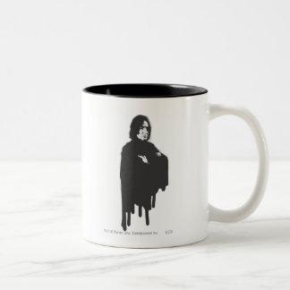 Severus Snape Arms Crossed B-W Two-Tone Coffee Mug