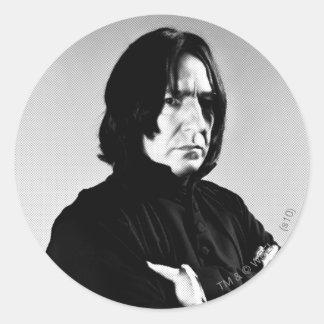 Severus Snape Arms Crossed Classic Round Sticker