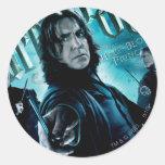 Severus Snape con los comedores 1 de la muerte Pegatinas Redondas