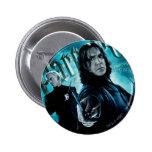 Severus Snape con los comedores 1 de la muerte Pin Redondo De 2 Pulgadas