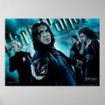 Severus Snape con los comedores 1 de la muerte Póster
