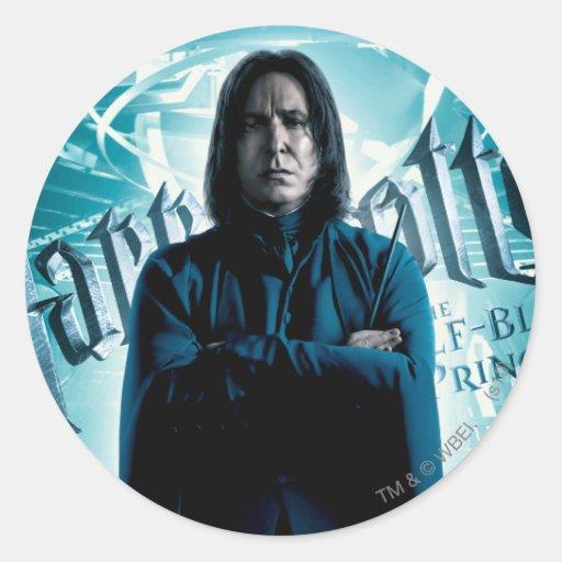Severus Snape HPE6 1 Pegatina Redonda