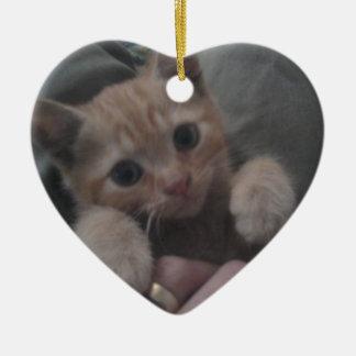 Sevi el gatito del jengibre ornamento para reyes magos